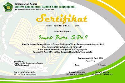Cd Desain Sertifikat Format Psd Putra Media Sertifikat Design