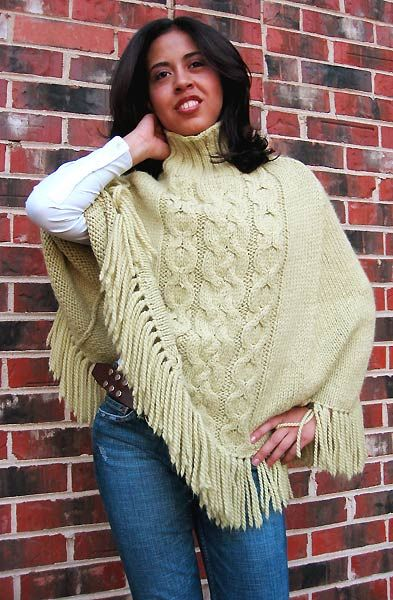 knitting poncho patterns | ... Alpaca Patterns - Women, Men ...