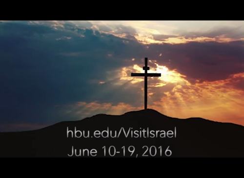 June 10-19, 2016. Don't miss this opportunity to walk where Jesus walked! Sign up today at www.hbu.edu/visitisrael. https://video.buffer.com/v/55e60e44deebe16f233672a0