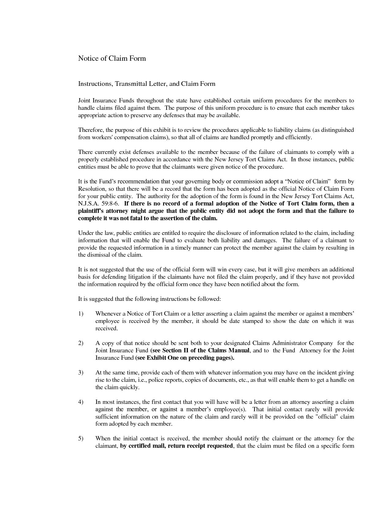 Claim Notification Letter Sample Bond Amp Notice Construction