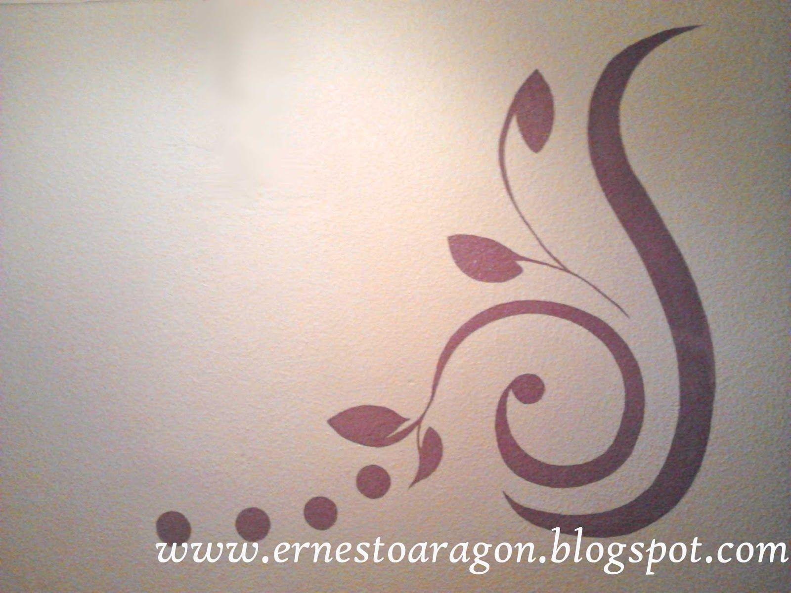 Plantilla de hojas | Ideas para decorar con vinilos y plantillas ...