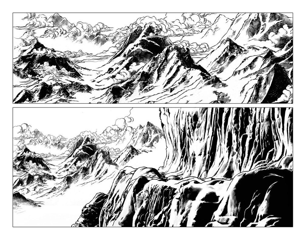 Digital Ink test by angelitoon   LineArt: Landscapes   Pinterest ...