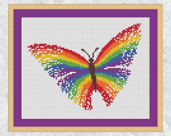 Together Rainbow Cross Stitch Pattern Downloadable PDF