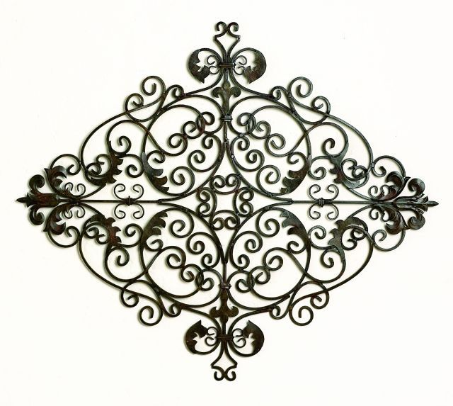 Genial Iron And Tole Green Scroll Wall Grille Dr Livingstone I Presume Wall  Sculpture Wall Decor