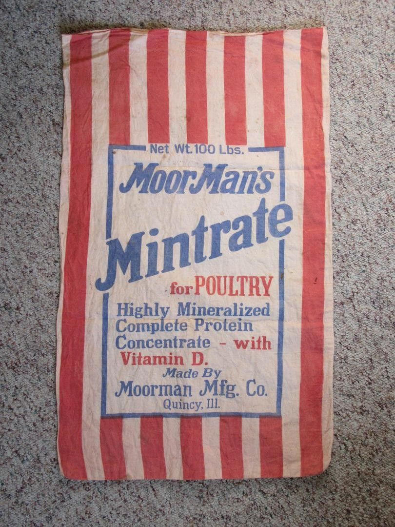 Moorman S Mintrate Moorman Mfg Co Quincy Illinois 20x32 5