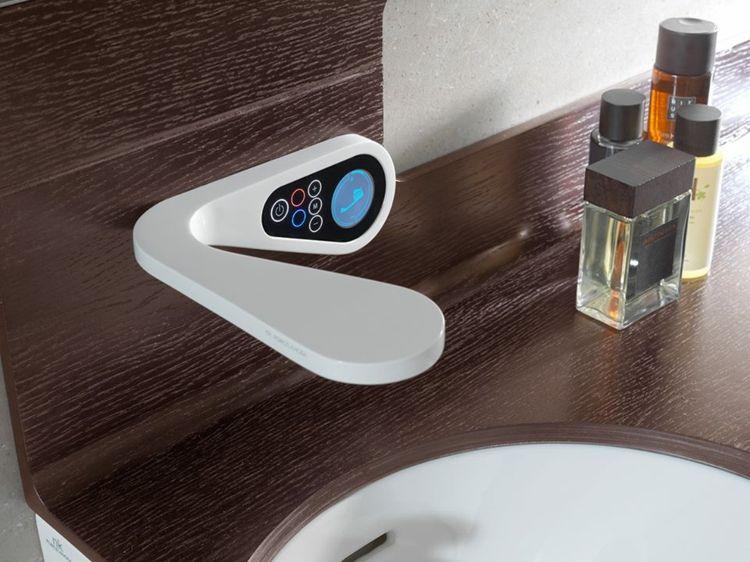 Mitigeur Lavabo électronique Et Numériquela Robinetterie High - Salle de bain high tech