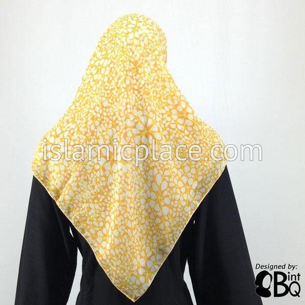 Hot Yellow Gold and Cream Print Khimar