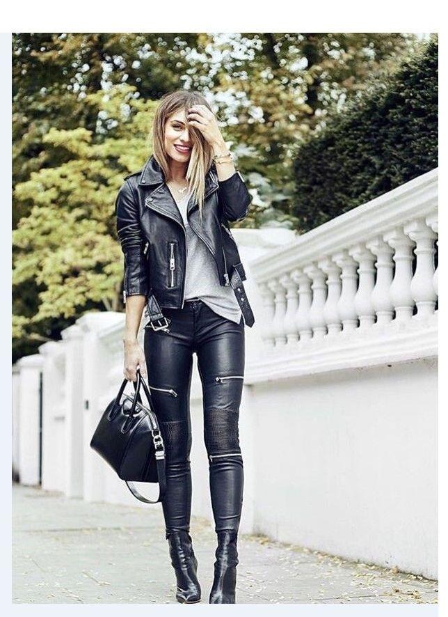 fd0b632a91c58 ZARA NEW faux leather biker women zipped skinny pants trousers size ...