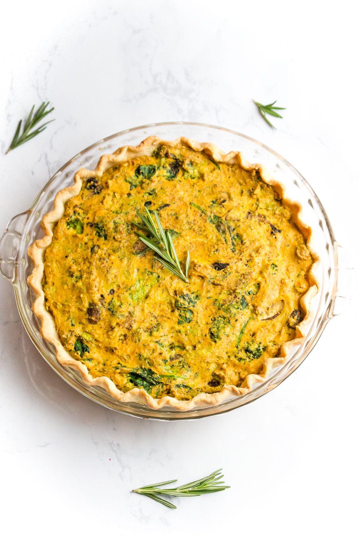 Vegan Quiche Recipe With Leeks Mushrooms Broccoli Recipe Vegan Quiche Quiche Recipes Recipes