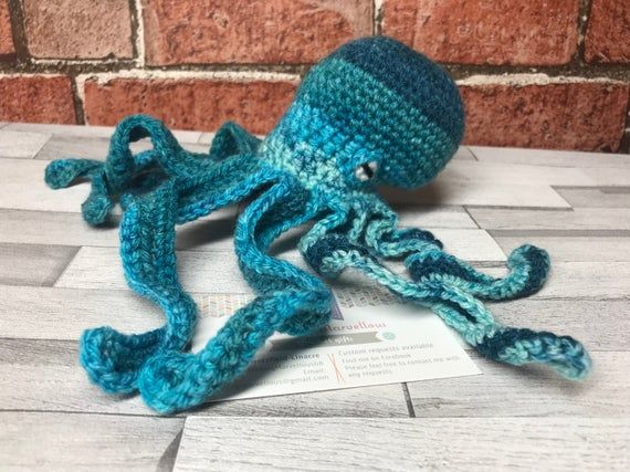 Crochet Octopus, kraken, sea creatre, cute plush, toy, amigurumi, octopus plush #crochetoctopus