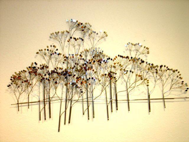 Chrome C Jere Raindrops Tree Forest Sculpture Mid Century Modern ...