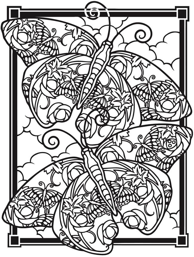 Creative Haven Fantasy Butterflies Coloring Book Welcome