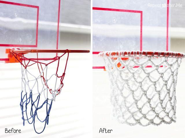 Crochet Basketball Hoop Net Repeat Crafter Me Hoop Net Basketball Hoop Diy Basketball