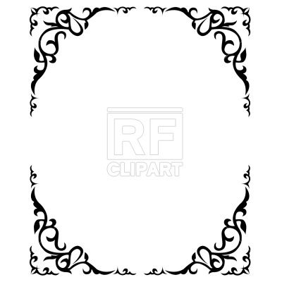 ornate floral frame vector image frame download vector clipart rh pinterest com Rustic Vector royal vector clip art