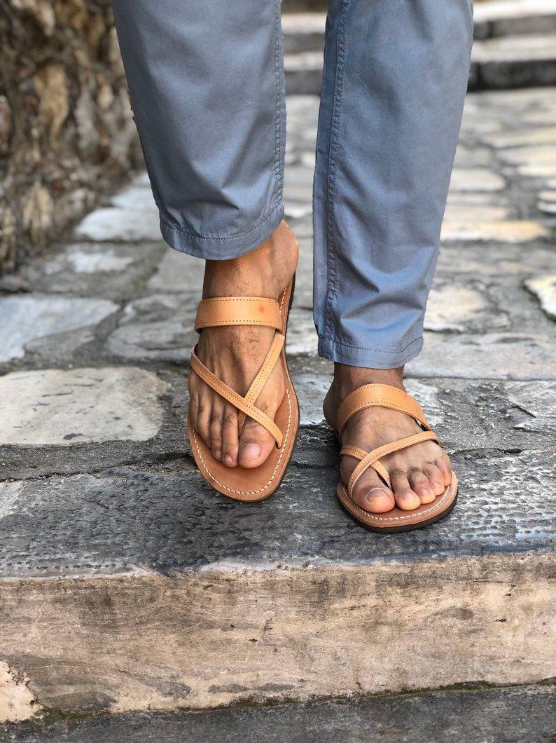 d31cd53c3d1a2 Leather Sandals Men, Beach Sandals, Mens Sandals, Greek Sandals ...