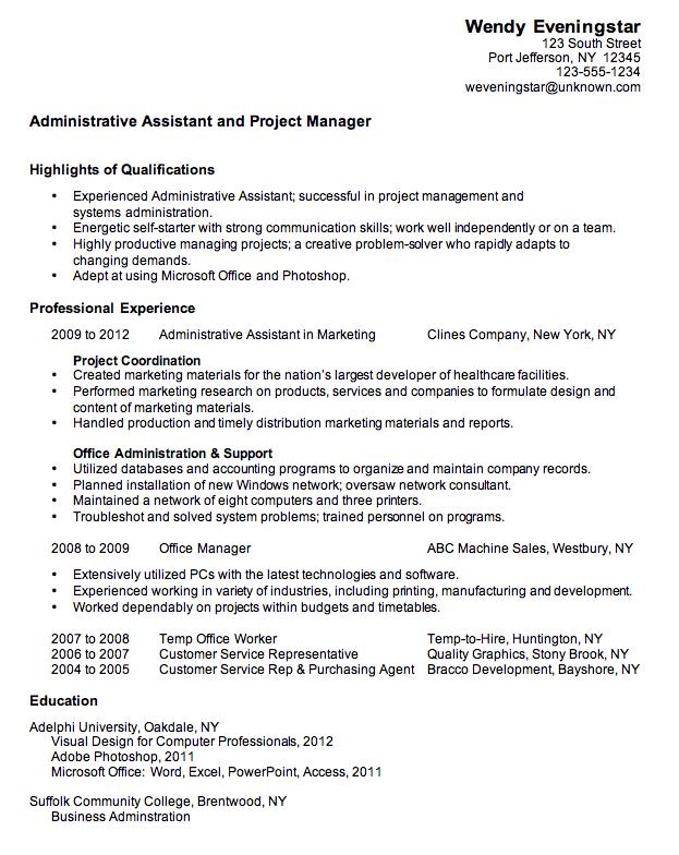 medical administrative assisant sample resume