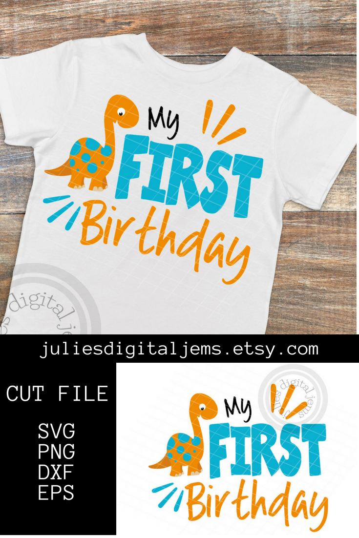 Grab This Cute Dinosaur Birthday Design And Make A Shirt For Your