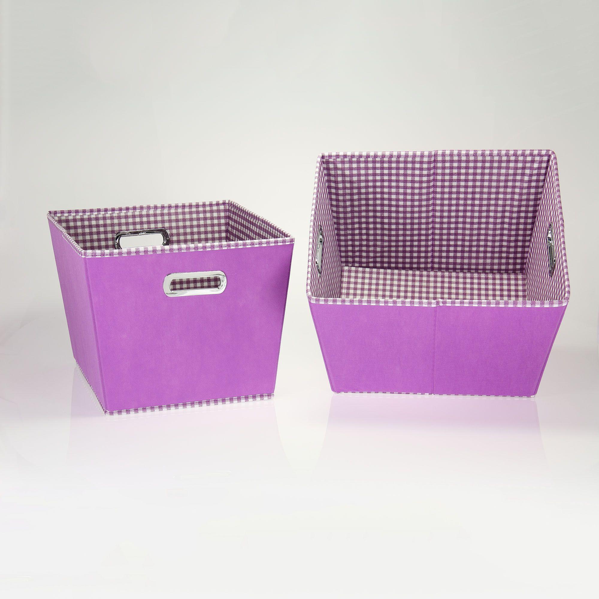 2-Toned Medium Tapered Bins, Purple