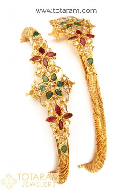 22K Uncut Diamond Bangles View our collection of 22 Karat gold