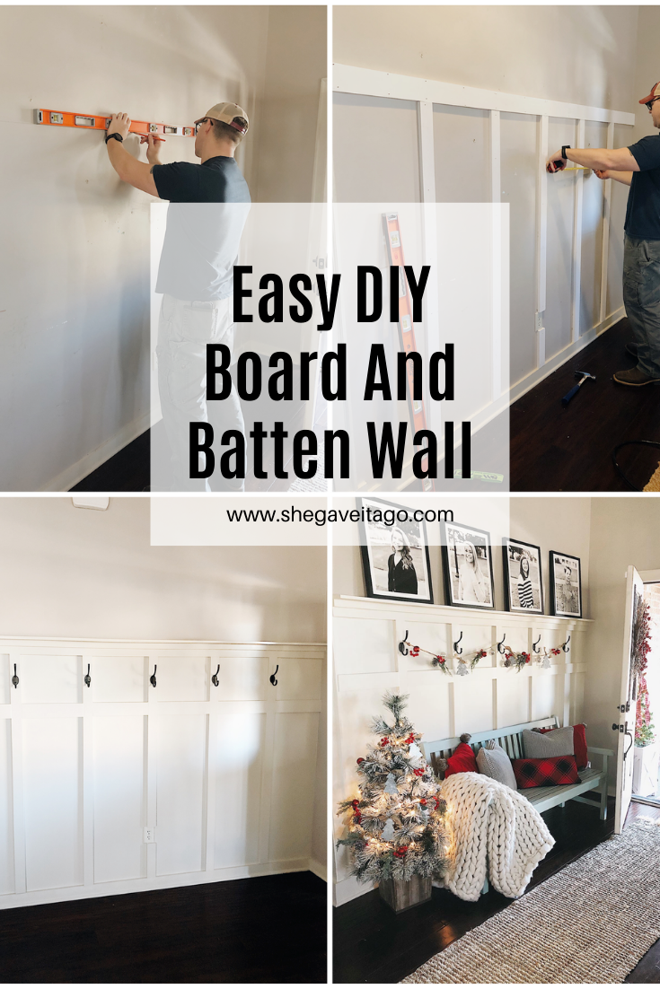 Easy DIY Board and Batten Wall - She Gave It A Go