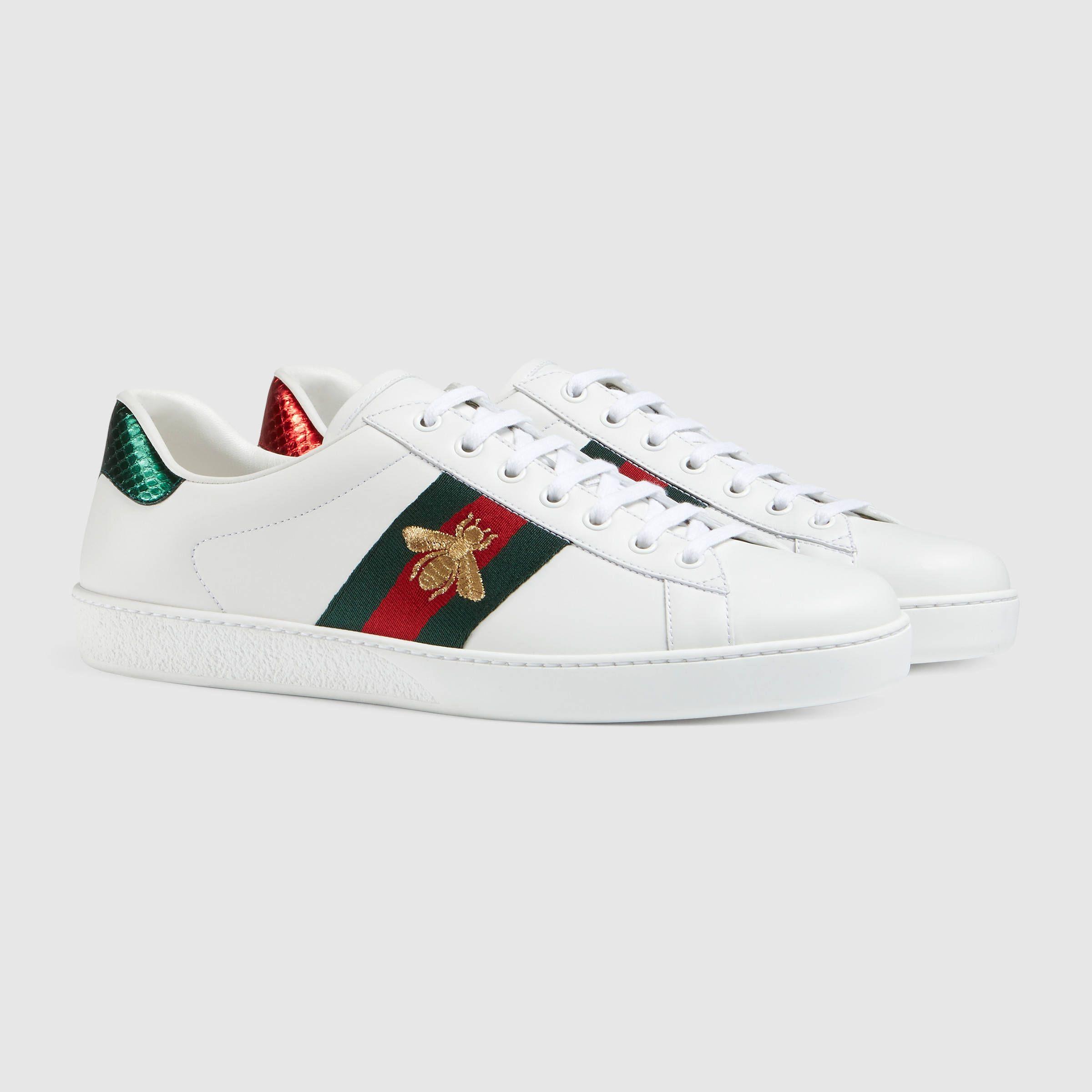Gucci Men S Ace Embroidered Sneaker Gucci Schuhe Sportschuhe Damen Mannerschuhe