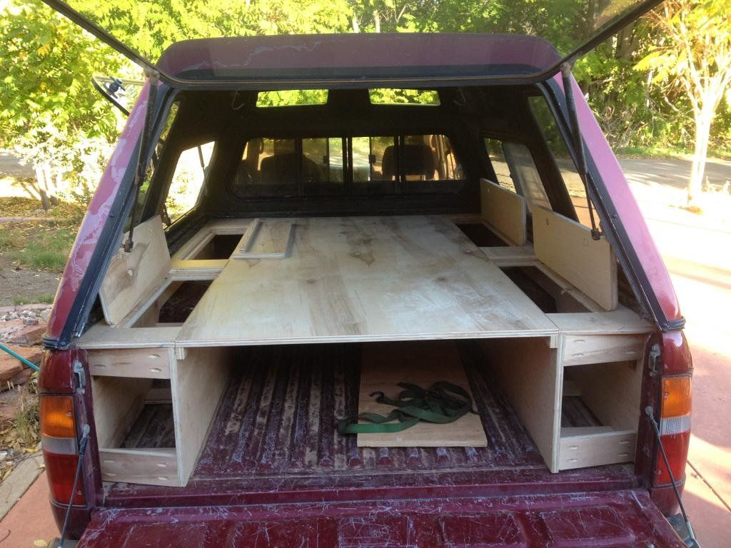 Sleeping Platform Ideas/Picts Truck bed camping, Truck