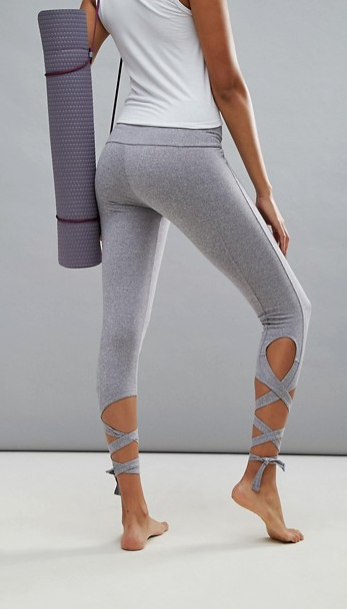 f904f5a25a399 $83 | I love these yoga pants | Onzie Ballerina Gray Leggings | yoga tights