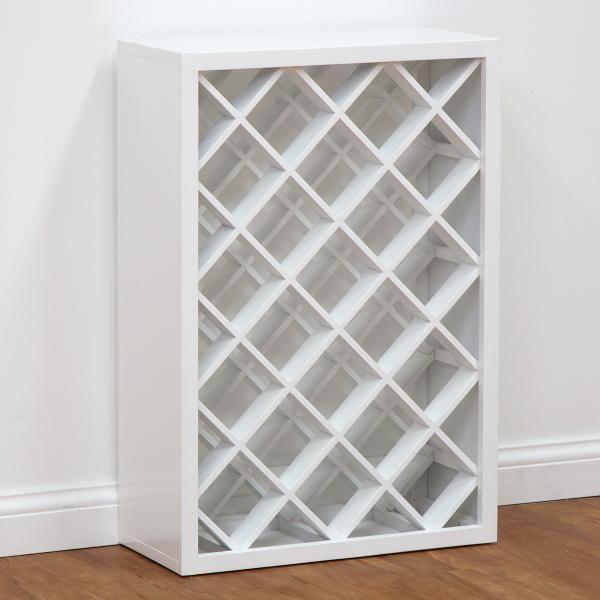 White Wine Rack Wine Rack Cabinet White Main Product Photo