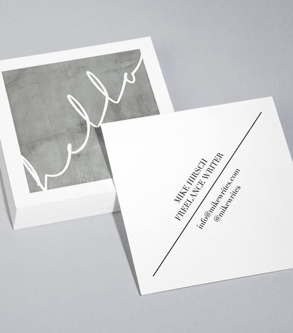 8 Clean Business Card Designs From Moo Aylin Marie Square Business Cards Design Business Card Design Square Business Card