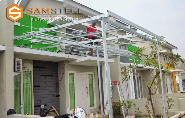 Biaya Membuat Garasi Mobil Dengan Baja Ringan Model Kanopi Semarang Harga Pasang Canopy