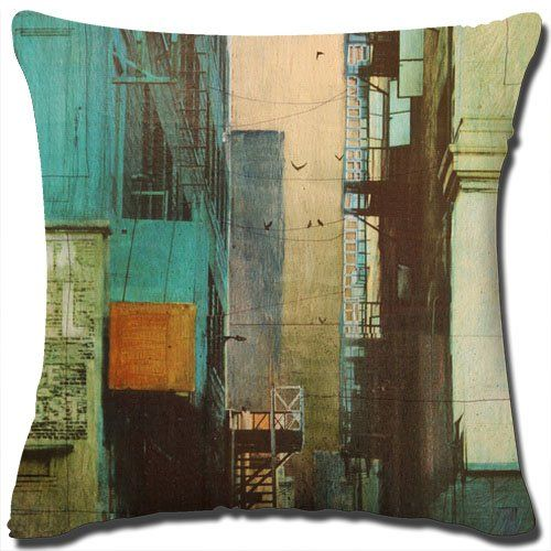 "Painting Art Throw Pillow Cover Best High Quality Cotton Linen Square Decorative Throw Pillow Cover Made From 100% High Quality Cotton Linen/Measures 18"" x 18""/Does Not Include Pillow Insert. Painting Art Throw Pillow Cover http://www.amazon.com/dp/B00RG99JPU/ref=cm_sw_r_pi_dp_O2Z-ub0R0W4NK"