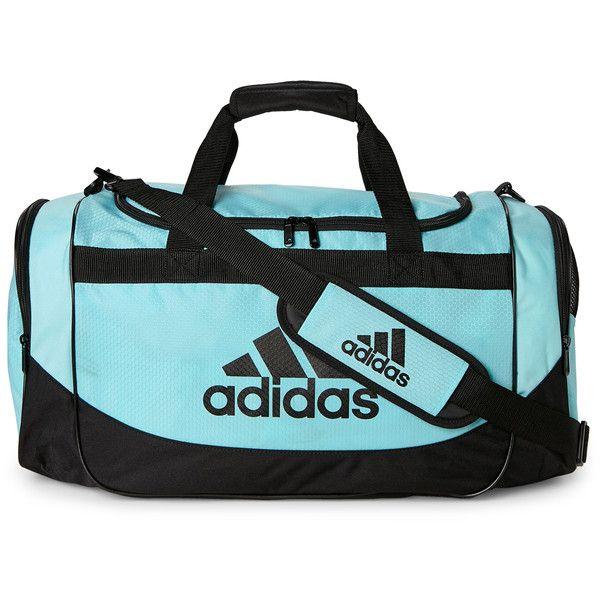 d8ad82f31242 Adidas Clear Aqua Black Defense Medium Duffel ( 20) ❤ liked on Polyvore  featuring bags