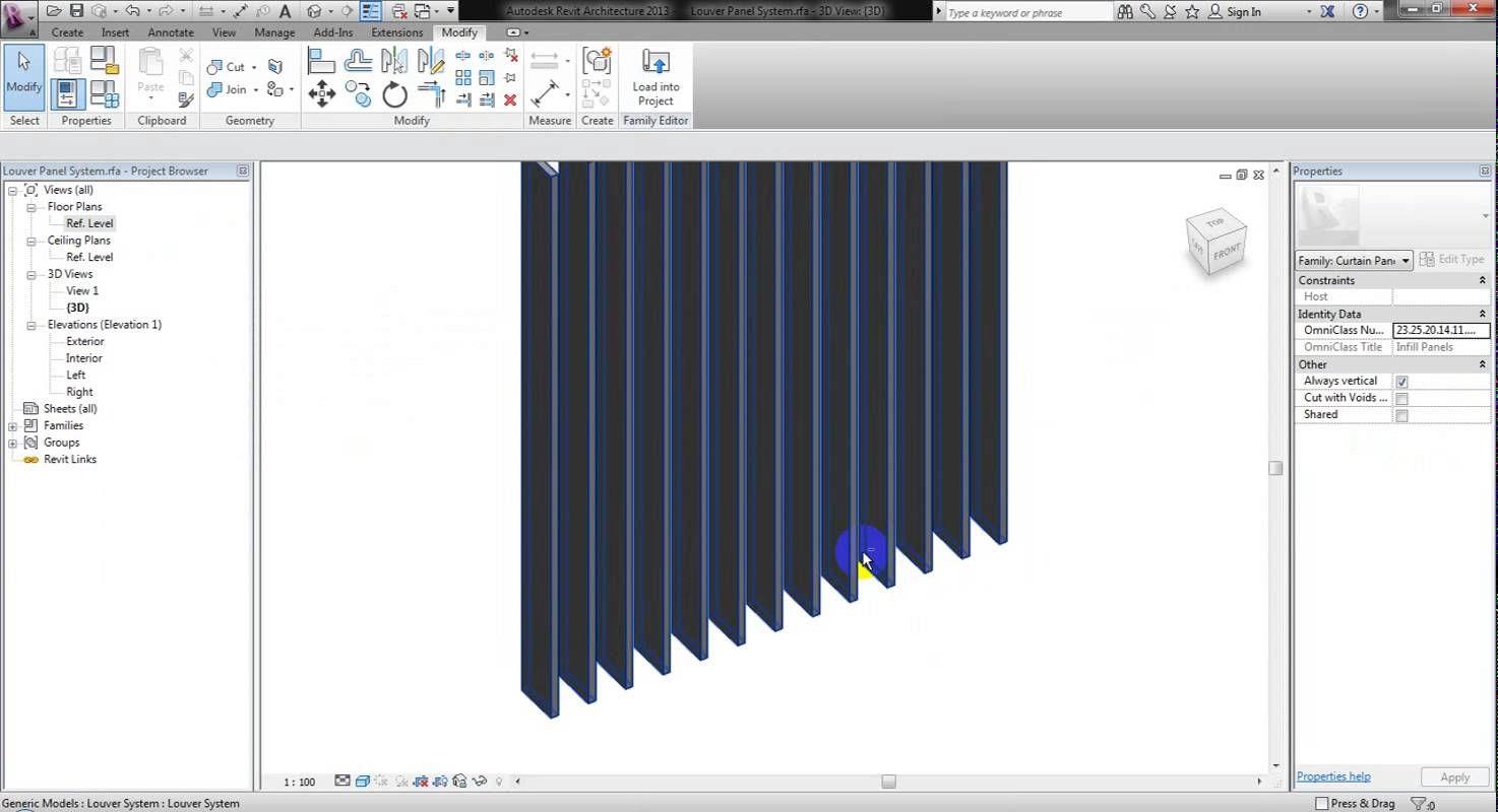 BPD RT005 Parametric Louver System - YouTube | Dynamo revit | Bpd