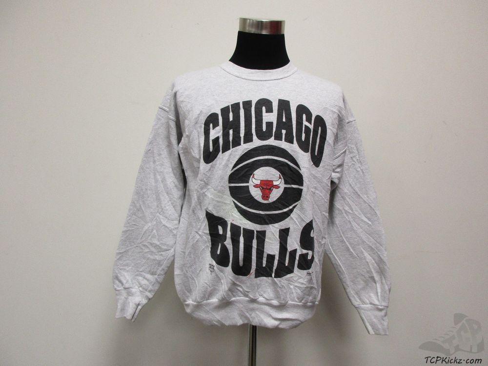 Hanes Chicago Bulls Crewneck Sweatshirt sz L Large NBA Jordan Pippen Rose  Kukoc  Hanes   1ad0abb5f