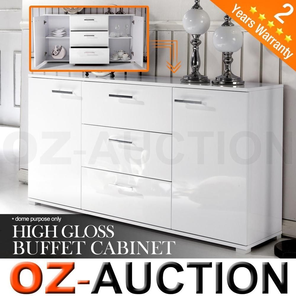 White 2 Door 3 Drawer Buffet Cabinet Httpadvice Tips