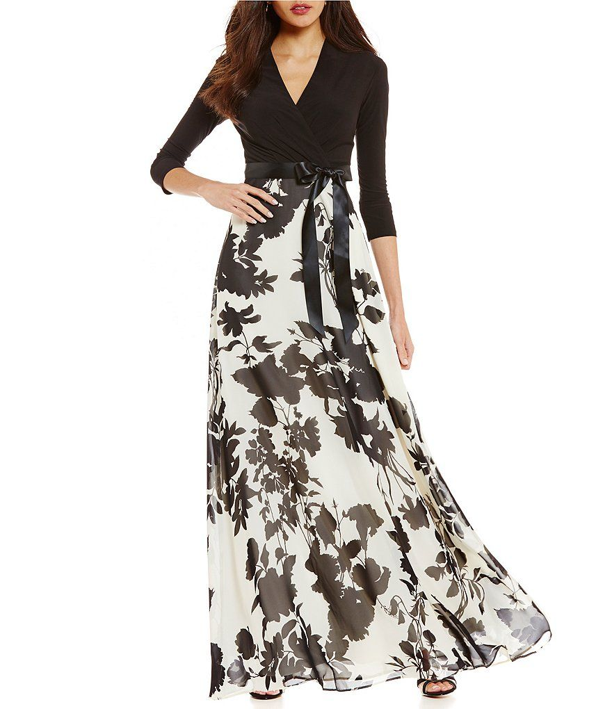 6b7dcb427f19 Leslie Fay Floral Maxi Dress   Werk it girl! And such   Floral maxi ...