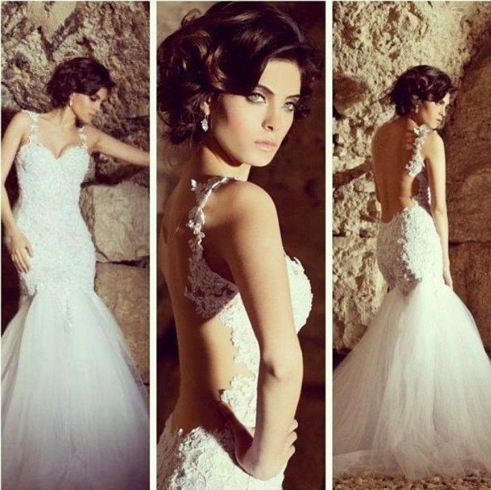 New Sexy Sweetheart White/Ivory Appliques Mermaid Wedding Dress Custom All Size