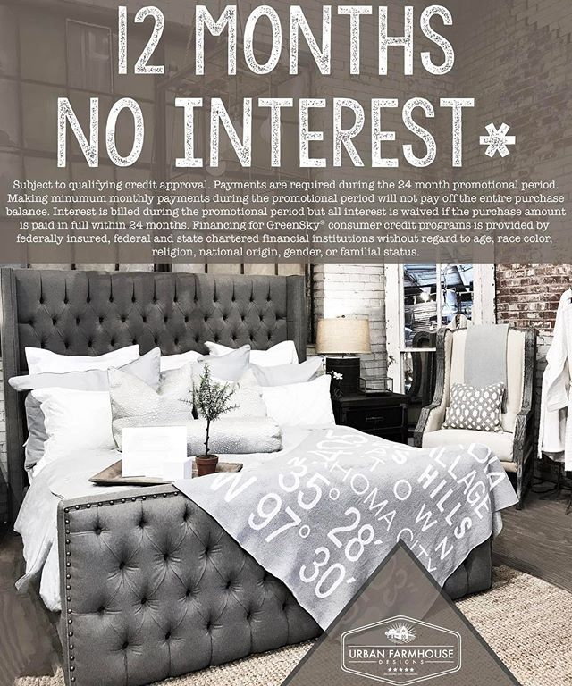 Don T Forget That Urban Farmhouse Designs Now Offers Financing 12 Months No Interest Now You Guest Bedroom Decor Urban Farmhouse Designs Urban Farmhouse