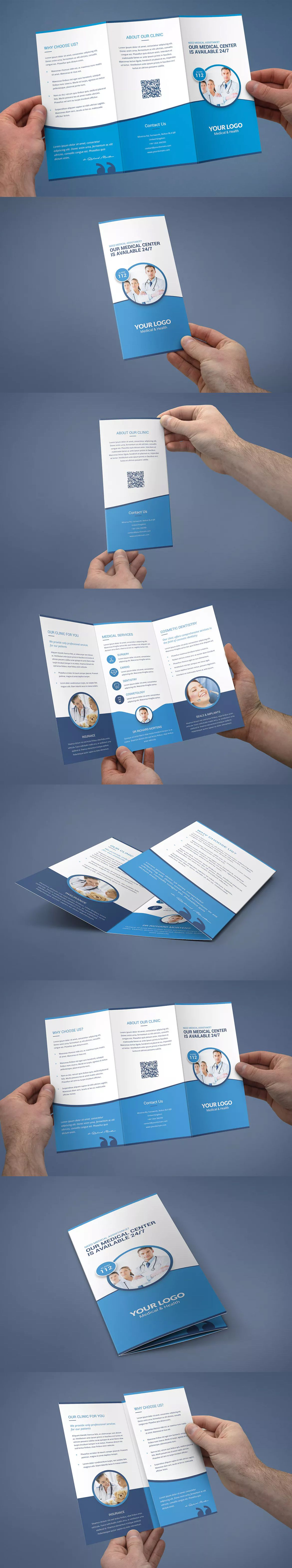 medical tri fold brochure template psd a4 and us letter size