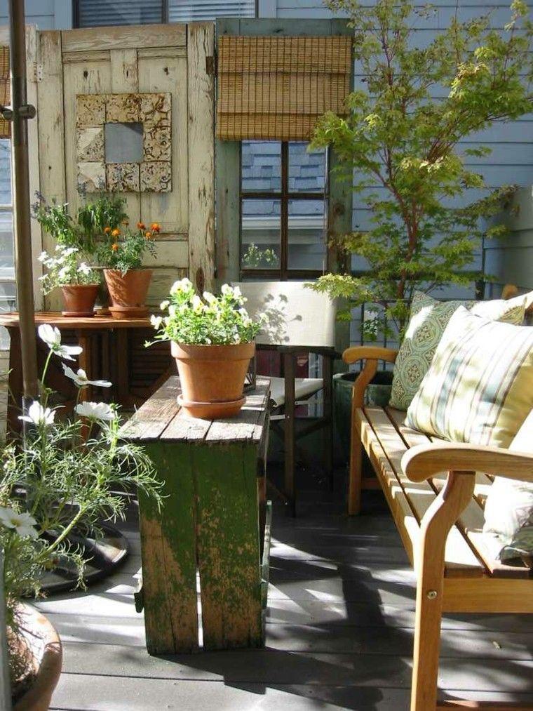 jardines y terrazas estilo rustico muebles reciclados ideas Jardín - jardines en terrazas