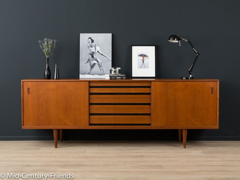 60er sideboard denmark kommode vintage von mid century friends auf mid century. Black Bedroom Furniture Sets. Home Design Ideas