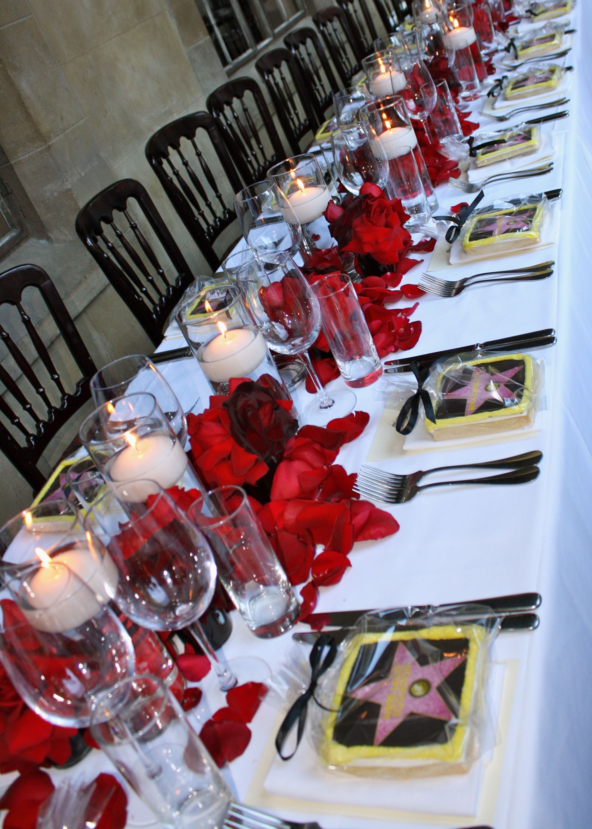 Allison Miller For Print Candy Designed The Table Setting For A Birthday Held Along The Colonnade At Movie Themed Party Birthday Table Decorations Print Candy