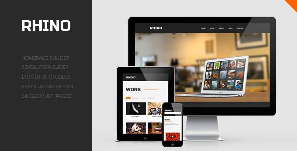 Rhino is clean, powerful and responsive wordpress theme. Built in ...