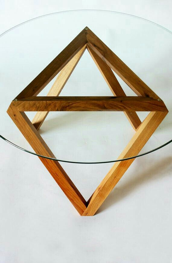 tre coffee table glass wood modern by petrified design