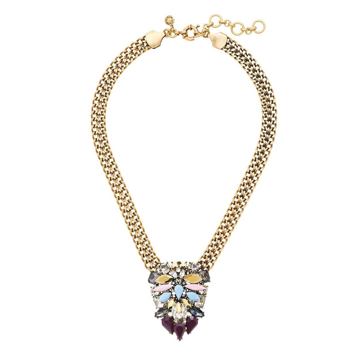 Crystal pendant necklace necklaces jcrew fashion pinterest