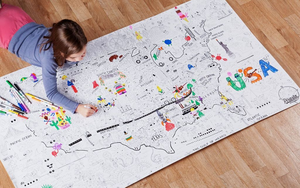 The Geography Coloring Book | Coloring Pages