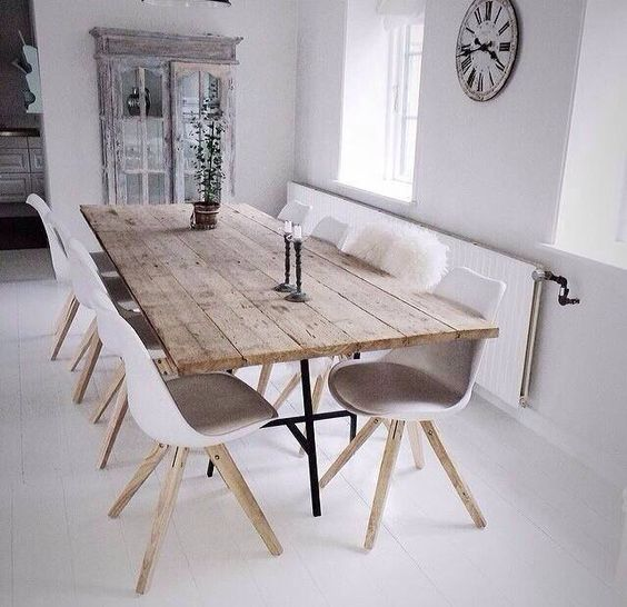 Wood dining tables for your contemporary dining room images