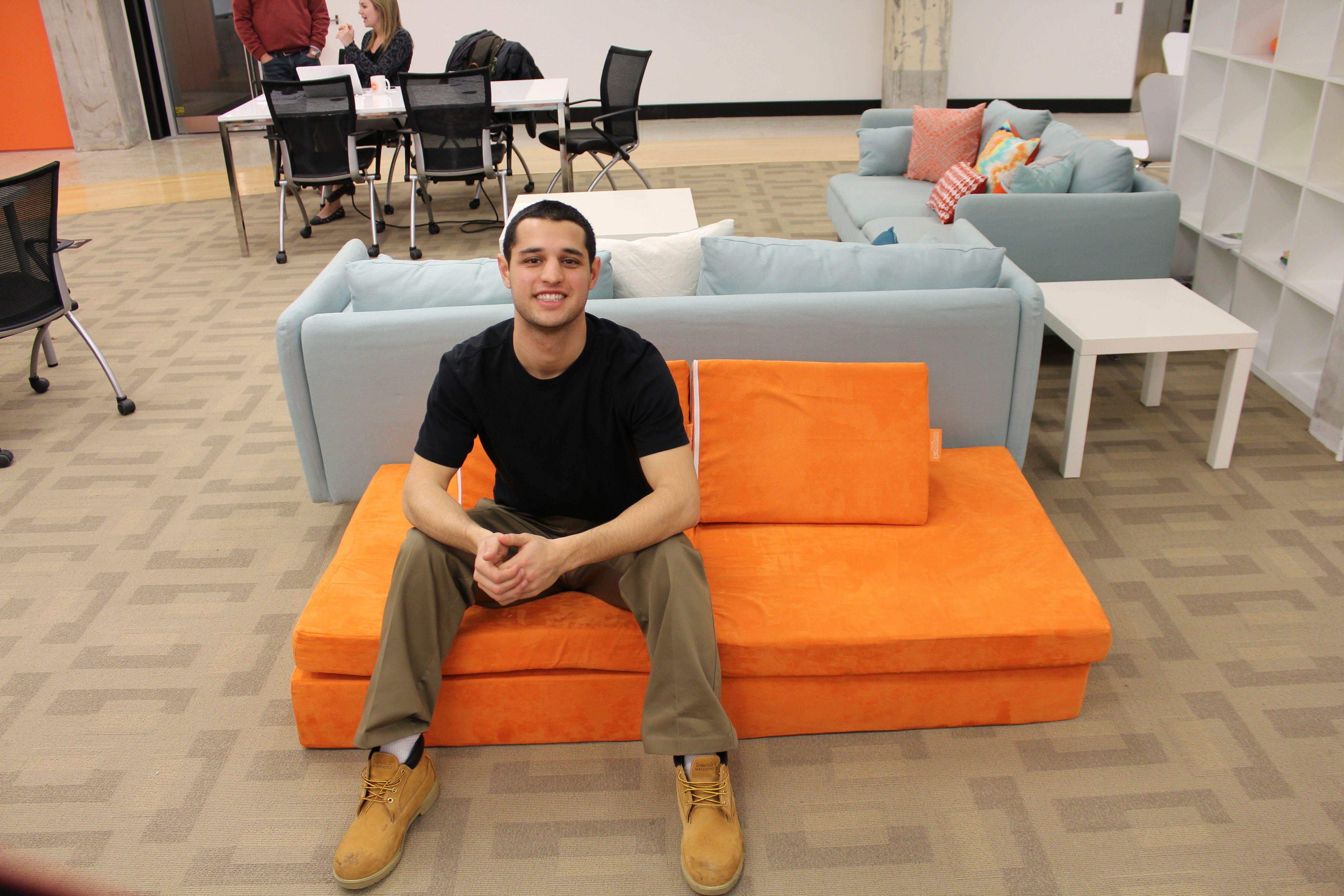 David Baron on the Kickstarted Nugget Sofa   Comfortable ...