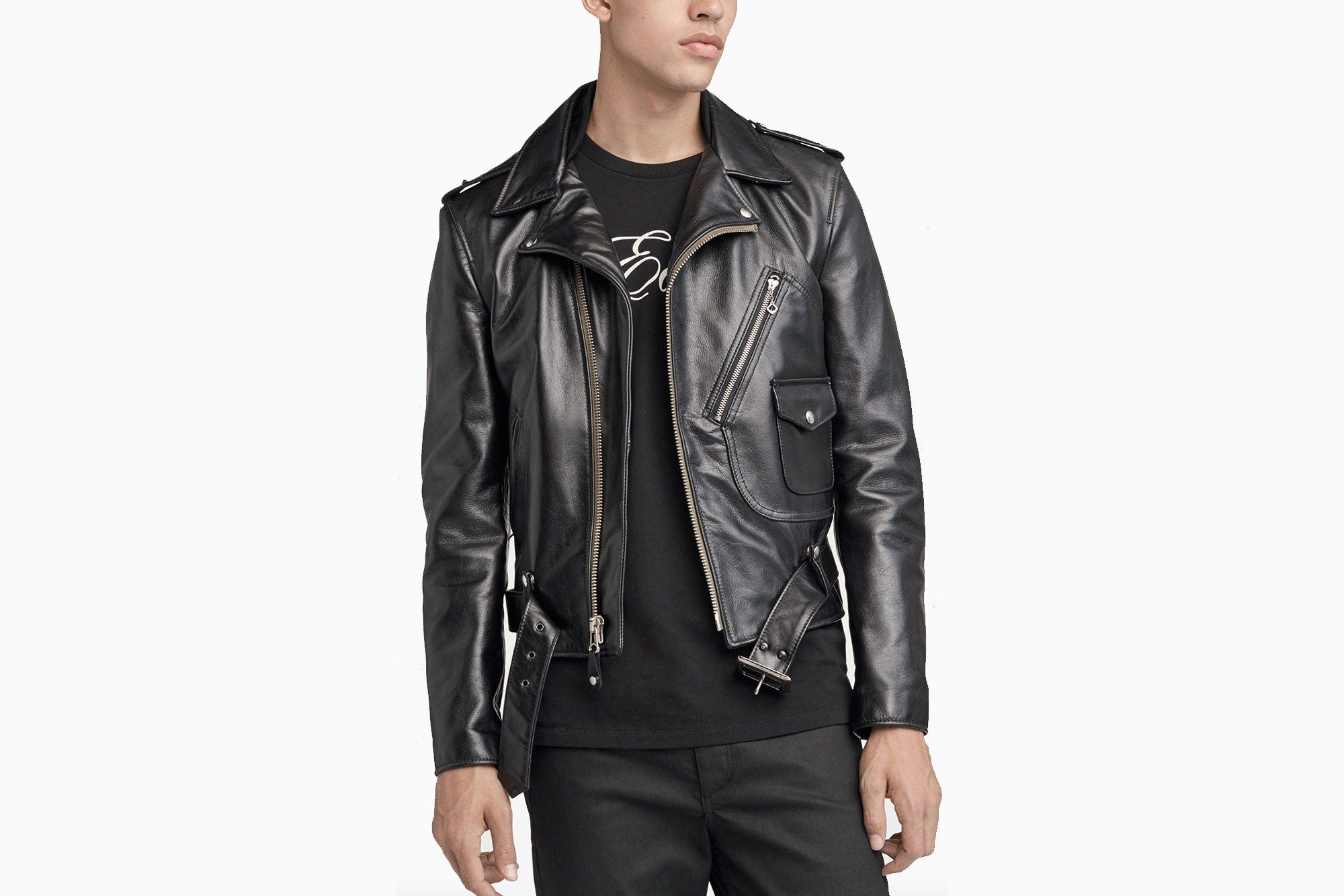 The Best Leather Biker Jackets Will Rev Up Your Spring Wardrobe Leather Jacket Men Black Leather Motorcycle Jacket Black Leather Biker Jacket [ 1333 x 2000 Pixel ]