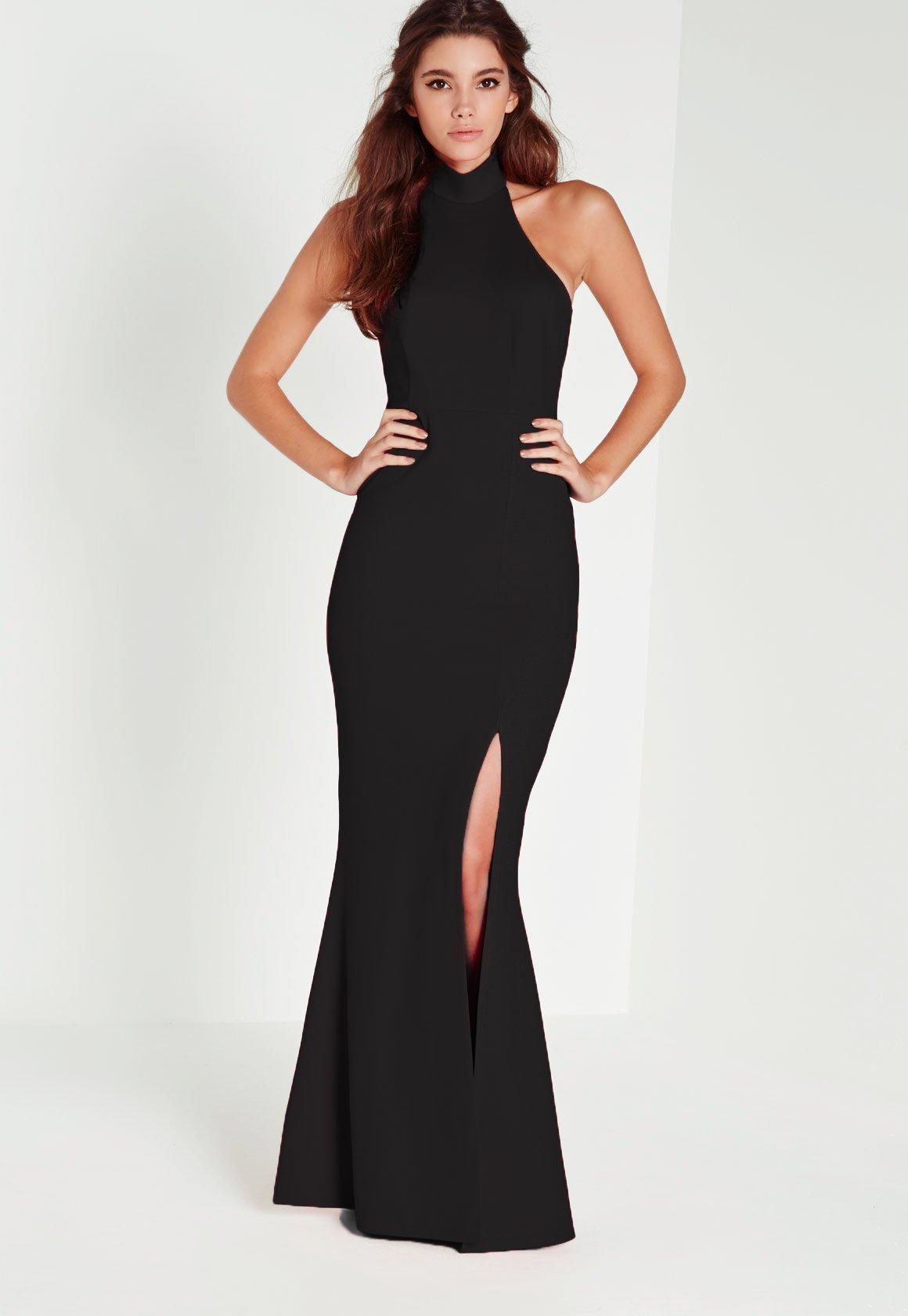 7ca6346392cfd Missguided Black Choker Maxi Dress | 2018 Family photoshoot wardrobe ...